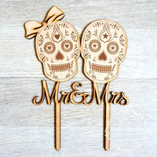 sugar-skulls-wedding-topper