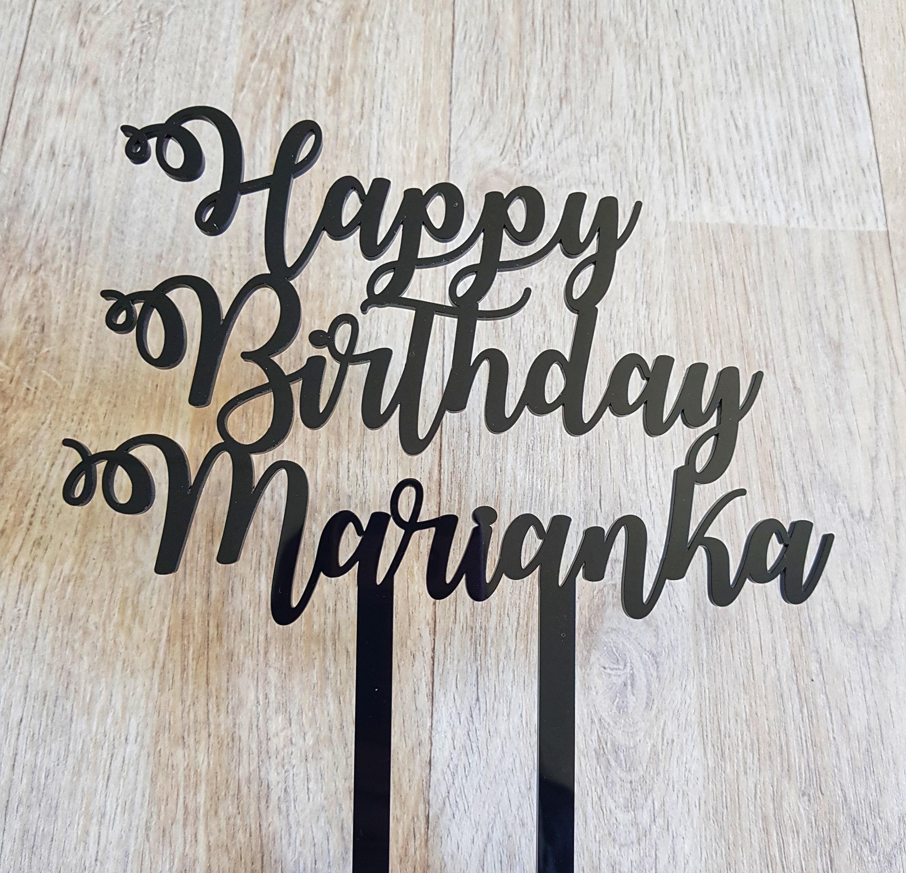 Happy Birthday Cursive Name