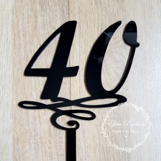 40-birthday-cake-topper