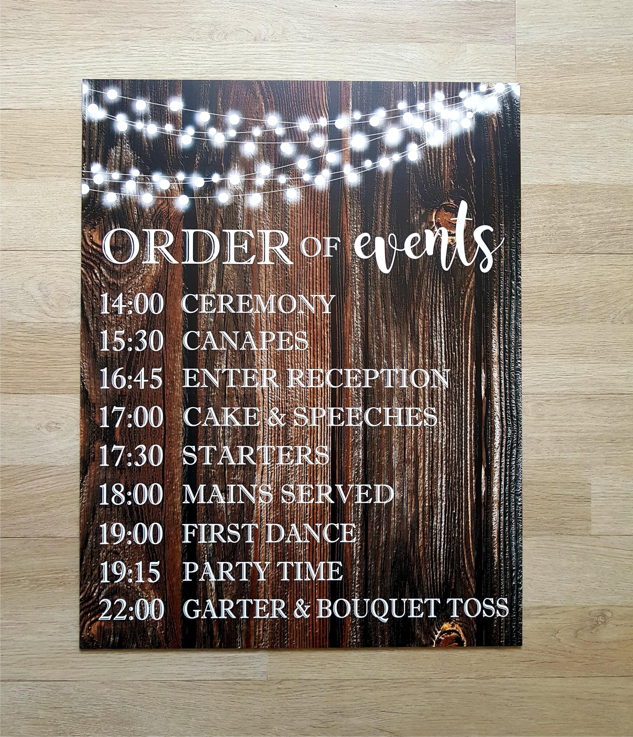 Order Of Events Wedding.Wedding Order Of Events