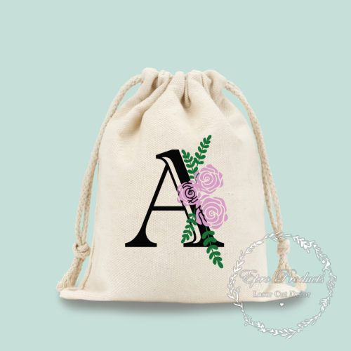 custom-floral-drawstring-wedding